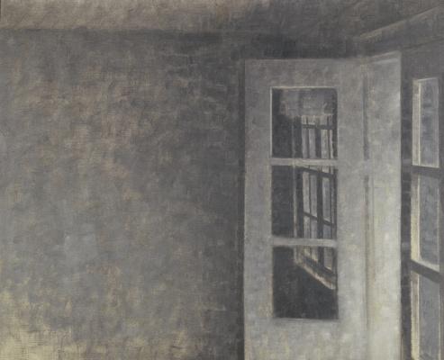 Vilhelm Hammershøi. Room with balcony, Villa Sparrow