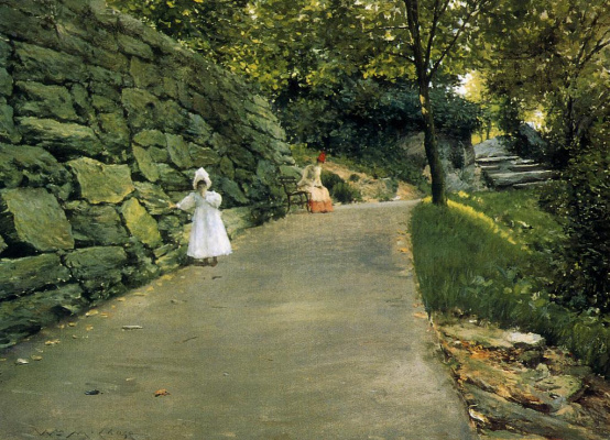 William Merritt Chase. In the Park on a secluded side track