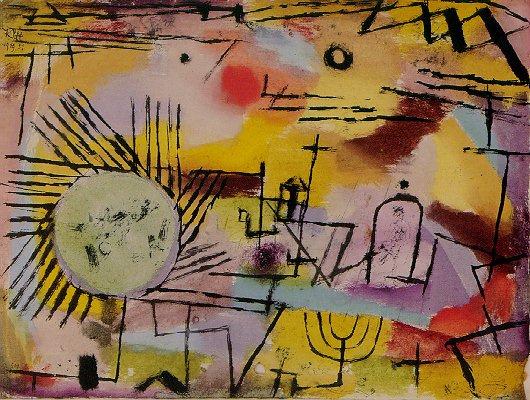 Paul Klee. The rising sun
