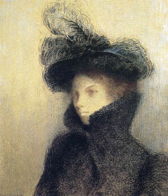 Odilon Redon. Portrait of Marie botkine in Karakul