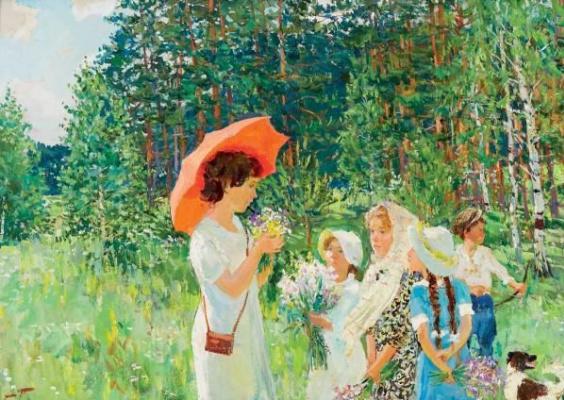 Arkady Alexandrovich Plastov. Botany lesson
