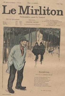 """Теофиль-Александр Стейнлен. Иллюстрация для журнала """"Мирлитон"""" № 112, 2 июня 1893 года"""