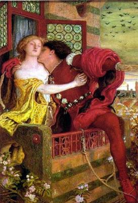 Форд Мэдокс Браун. Ромео и Джульетта (акварель)