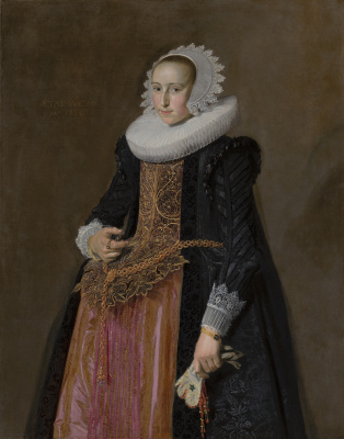France Hals. Portrait Of Aletta Hanemans