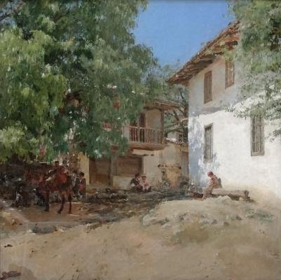 Валентин Александрович Серов. Татарская деревня в Крыму