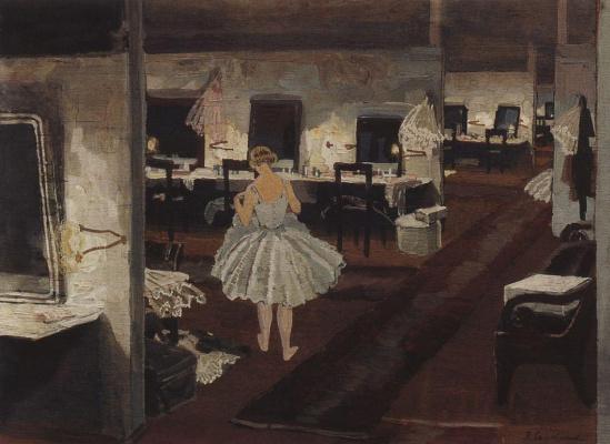 Zinaida Yevgenyevna Serebriakova. In ballet restroom