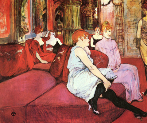 Henri de Toulouse-Lautrec. The salon on Moulin street