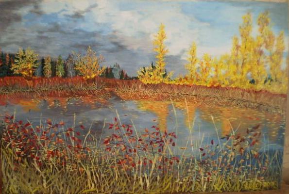 Vladimir Adamovich Ropot. Cold autumn