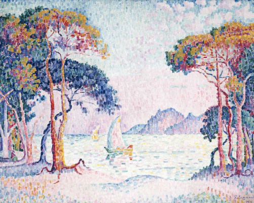 Paul Signac. Juan-Les-Pins. The evening