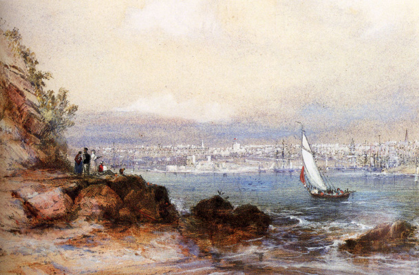 Конрад Мартенс. Вид на гавань Сиднея
