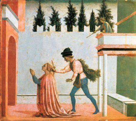 Доменико Венециано. Мученичество Святой Люсии