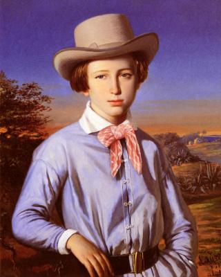 Франсуа Лоран. Молодой человек в шляпе