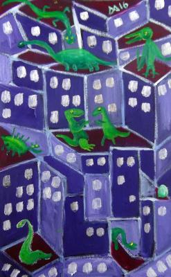Мурад Халилов. Dinosaurs on the roof