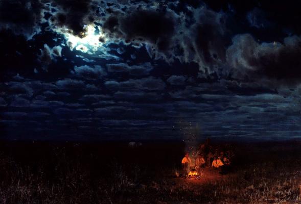 Nikolay Aleksandrovich Sergeev. Night in the desert