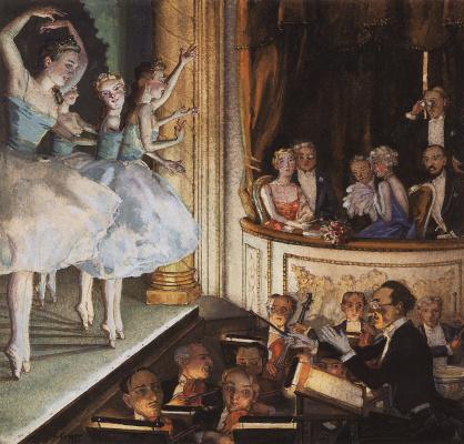 Constantin Somov. Russian ballet