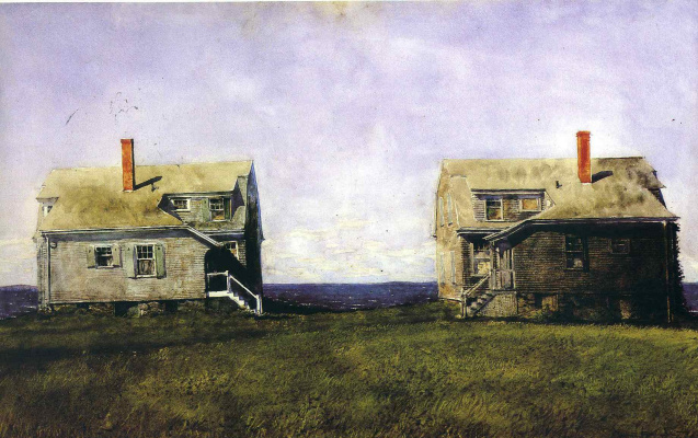 Jamie Wyeth. Semi-detached house