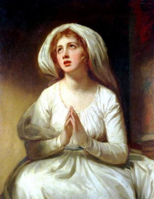 George Romney. Lady Hamilton in prayer