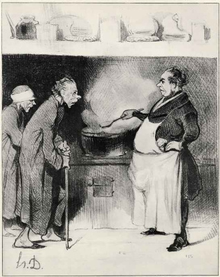 Honore Daumier. The people's kitchen