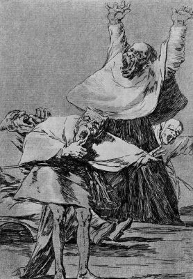 """Francisco Goya. """"It is time!"""" (Series """"Caprichos"""", page 80)"""