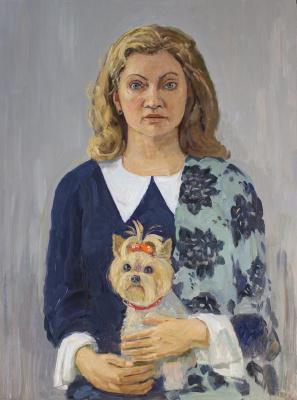 Eugene Alexandrovich Kazantsev. Portrait of Lyudmila Samusevich.