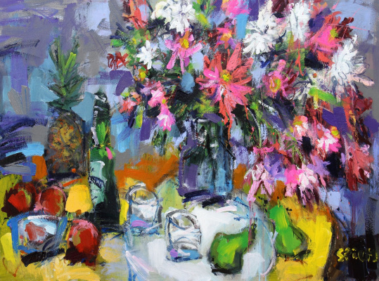Ilya Pavlovich Spichenkov. Flowers and Pineapple