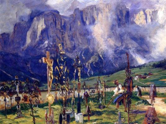 John Singer Sargent. Tyrolean cemetery