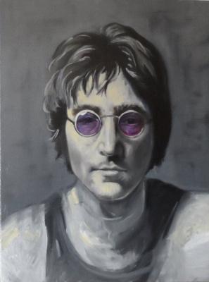 "Alexander Giza-Ciobanu. A Portrait Of ""John Lennon"""