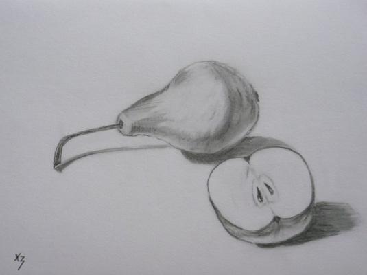 Сергей Николаевич Ходоренко-Затонский. Pear and half an Apple
