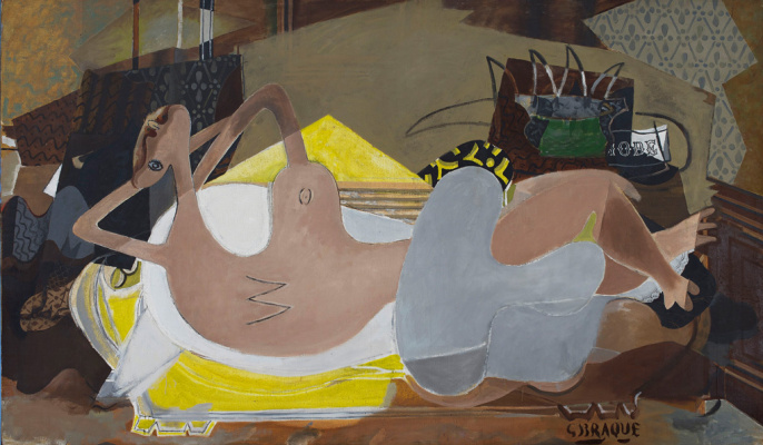 Georges Braque. Reclining Nude