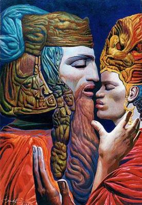 Ernst Fuchs. David and Bathsheba IV