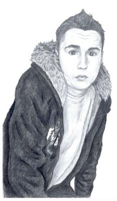 Ирина Владимировна Хазэ. A male portrait, made with graphite pencils