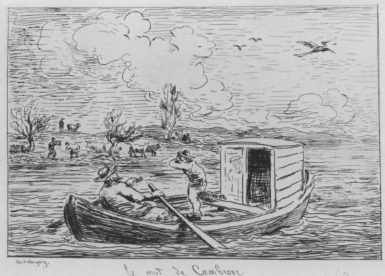 Charles-Francois Daubigny. Roll with Cambronne
