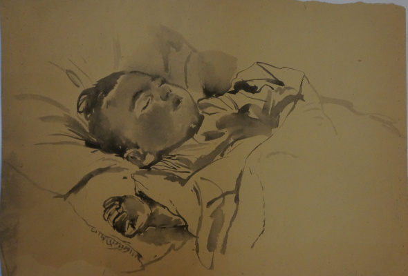 Alexandra Antonovna Gladun. Portrait of son
