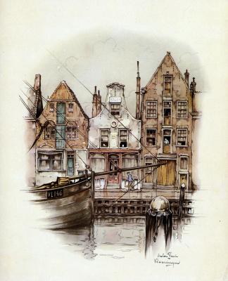 Anton Peak. City quay, Amsterdam