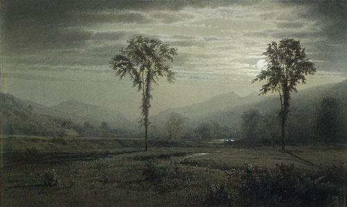Уильям Трост Ричардс. Лунный свет на горе