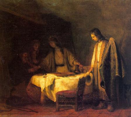 Самюэл ван Хогстратен. Прощание Тобиаса с родителями