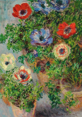 Claude Monet. Anemones in pots
