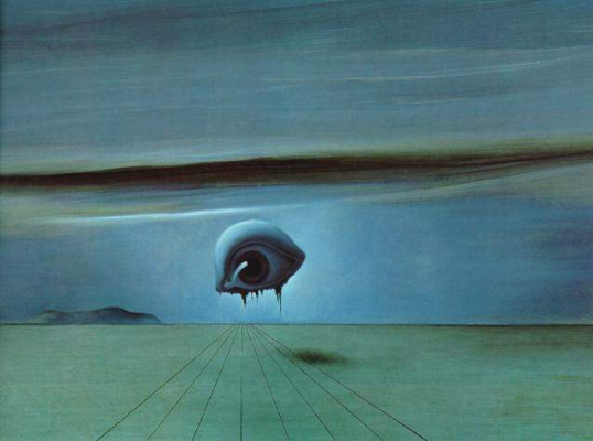 """Salvador Dali. Eyes. Sketch for the film A. Hitchcock's """"Enchanted"""""""