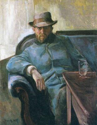 Edvard Munch. Writer Hans Jaeger