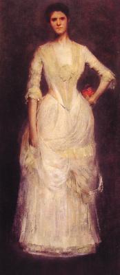 Thomas Wilmer Dewing. Portrait Of Ella Emmet