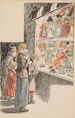 Theophile-Alexander Steinlen. At the shop window with the best dolls