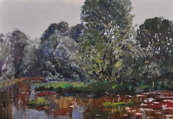 """Vyacheslav Andreevich Fedorov. """"Forest lake"""""""