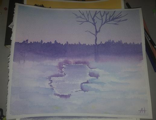Alina Nesterova. Frosty evening
