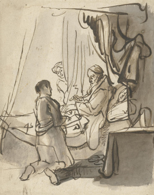 Karel Fabricius. Isaac blesses Jacob. Sketch