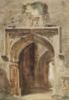 Джон Констебл. Церковь Восточного Бергхольда, южная арка разрушенной башни