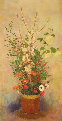 Odilon Redon. Vase of flowers with apple-tree branches in bloom