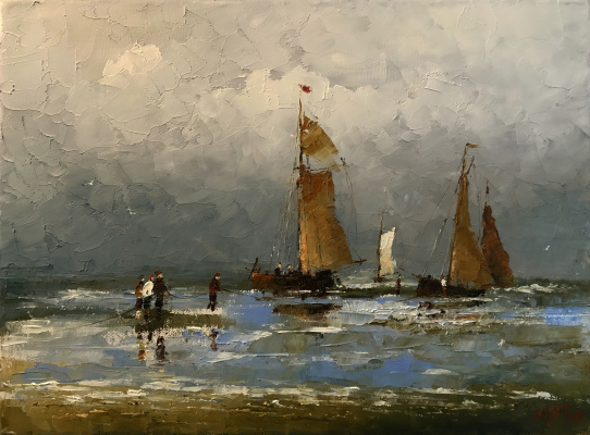 Alexander Cepel. Fishermen and boats