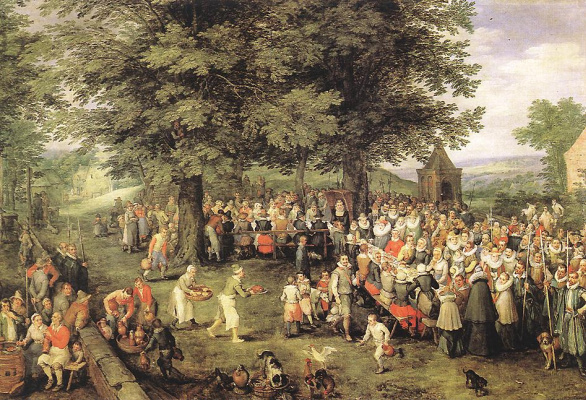 Jan Bruegel The Elder. Wedding Banquet
