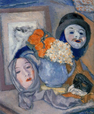 Arturo Souto. Mask and flowers