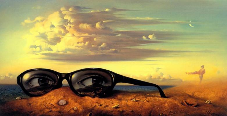 Vladimir Kush. Forgotten glasses